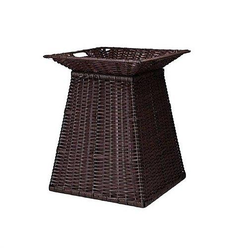 170403YOOSY-0062 PP라탄 사각피라미드형 마트진열대 세트 바닥뚫림 W450 D450 H500